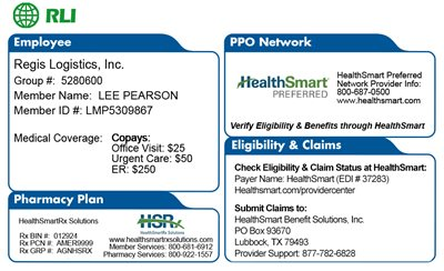 HealthSmart Member ID Card - Front